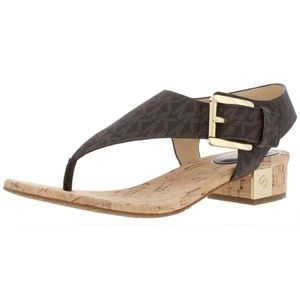 MICHAEL Michael Kors Womens Brown Flat Sandals